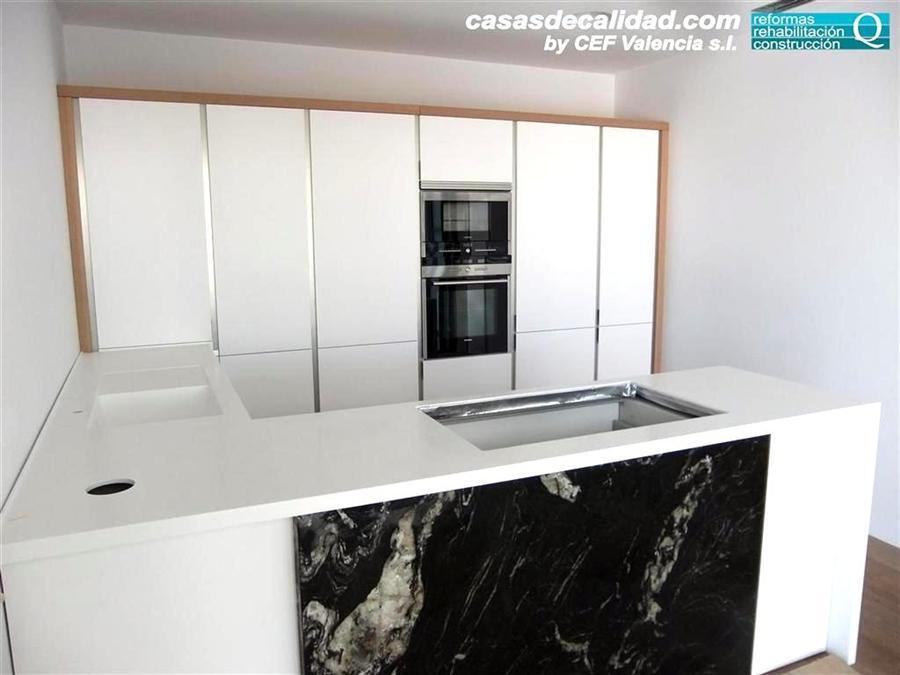 Galer a de fotos de cocinas con mobiliario en blanco en valencia - Cocinas en valencia ...