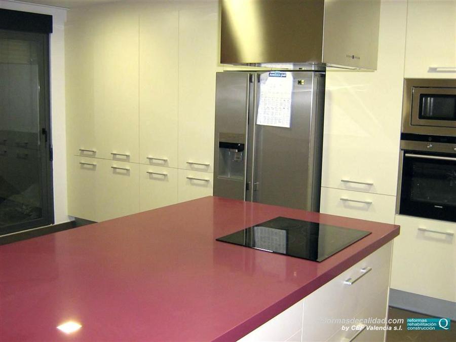 Galer a de fotos de cocinas en color - Cocinas con colores vivos ...