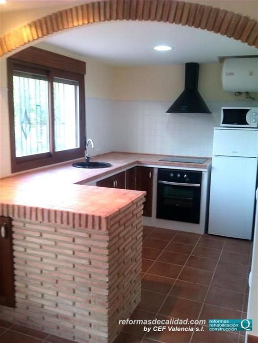 M s fotos de cocinas reformadas y con muebles realizados - Arcos de ladrillo visto ...