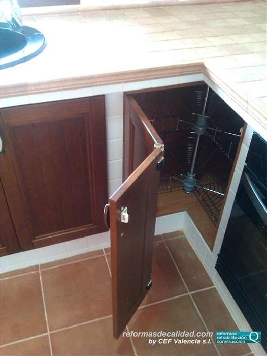 M s fotos de cocinas reformadas y con muebles realizados Mueble esquinero cocina