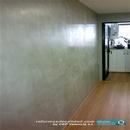 Vista de pared lateral realizada con microcemento en reforma de cocina en Av. Cortes Valencianas de valencia
