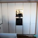 Mobiliario para almacenamiento y frigoríficos integrados en cocina realizada en Albal