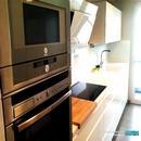 Vista mobiliario lacado en blanco brillo en reforma realizada en Valencia