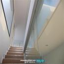 Vista vidrio de separación empotrado en suelo y techo en vivienda Albal Valencia