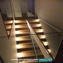 Escalera iluminada en vivienda Albal