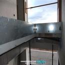 Detalle elementos de rigidización de barandillas de escalera