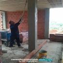 Aplicación de materiales de protección en estructura previa a ejecución tabiquerías