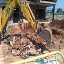 Trabajos de excavación foso de piscina