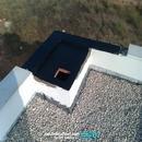 Colocación de extractores eólicos en cubierta. Detalle de impermeabilización zona apoyo