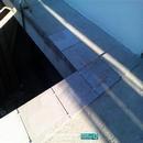 Detalle colocación de pavimentos exterioresen vivienda Albal