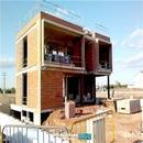 Vista general de vivienda en fase de realización de cerramientos