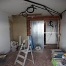 foto1358 Ejecución-Albañilería / colocación de estructura para corredera en habitación