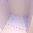 foto1421 Baño-Final / Plato de ducha extraslim en resina en color gris antes de colocar mampara
