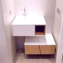foto1423 Baño-Final / Vista frontal mueble de diseño con Krion de la marca Porcelanosa